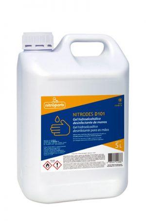 NITRODES D101 – Gel Hidroalcohólico 5 L – Caja 3 u