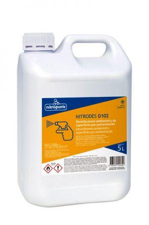 NITRODES D102 – Desinfectante ambiental/superficies 5 L – Caja 3 u